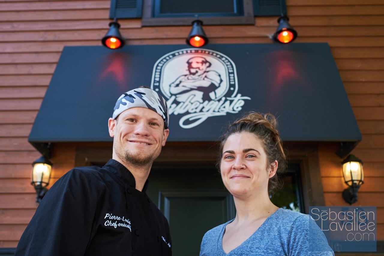 Visite au restaurant L'Aubergiste pour Tourisme Outaouais avec Bianca Paquette. (Photo : Sebastien Lavallee)