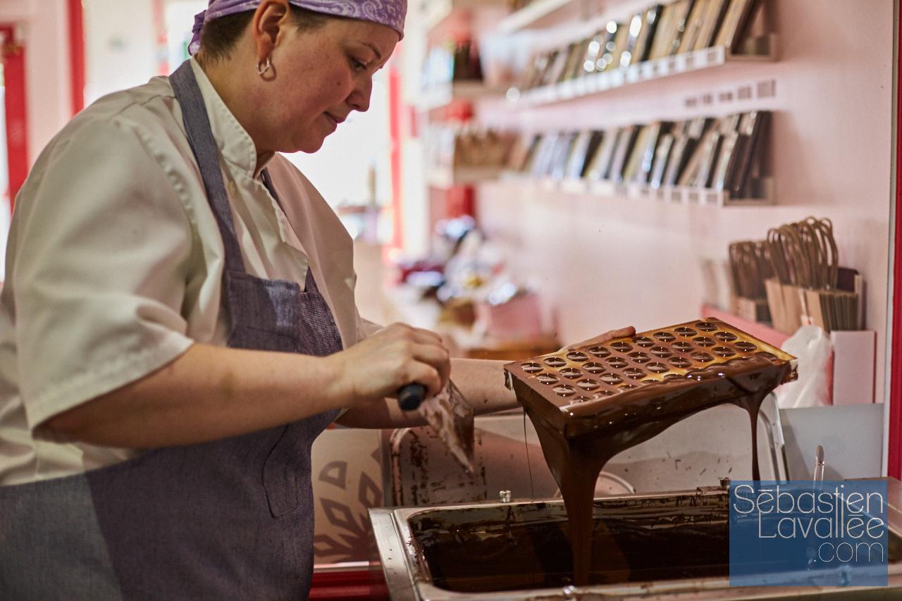 Visite chez Béatrice et Chocolats avec Bianca Paquette pour Tourisme Outaouais. (Photo : Sebastien Lavallee)