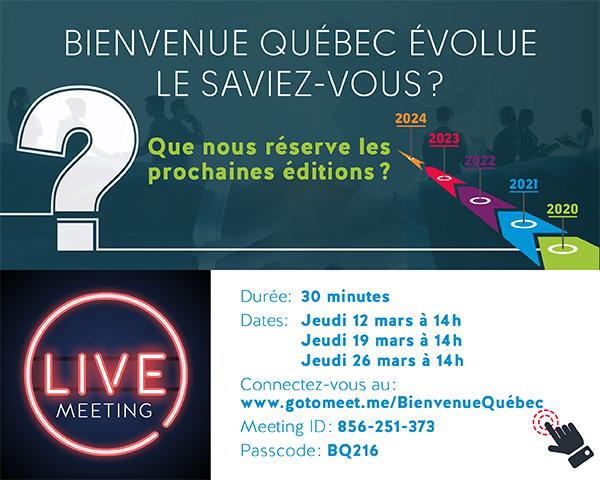 Bienvenie Québec évolue
